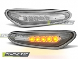BOČNÍ BLINKRY BMW E46, 2001-2005, LED CHROM