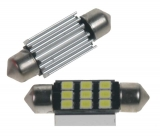 LED žárovka 12V s paticí sufit (36mm), 9LED/2835SMD s chladičem