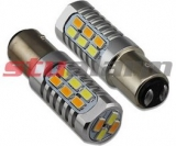 LED BAY15d (dvouvlákno) dual color, 12-24V, 22LED/5630SMD