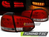 Světla zadní VW GOLF 6 10.08-12 RED WHITE LED BAR