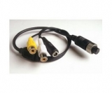 Kabel video 4pin samice/RCA samice