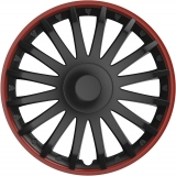 "KRYTY KOL Crystal 14"" Black/Red 1ks"