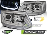 Přední světla VW T5 2010-2015 LED TUBE LIGHT CHROME T6 LOOK