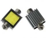 COB LED žárovka 12-24V s paticí sufit (39mm)
