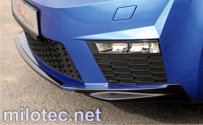 Díly předního nárazníku - ABS černá metalíza, Škoda Octavia III. RS Limousine /