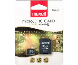 Paměťová karta MAXELL micro SDHC 16GB včetně adaptéru