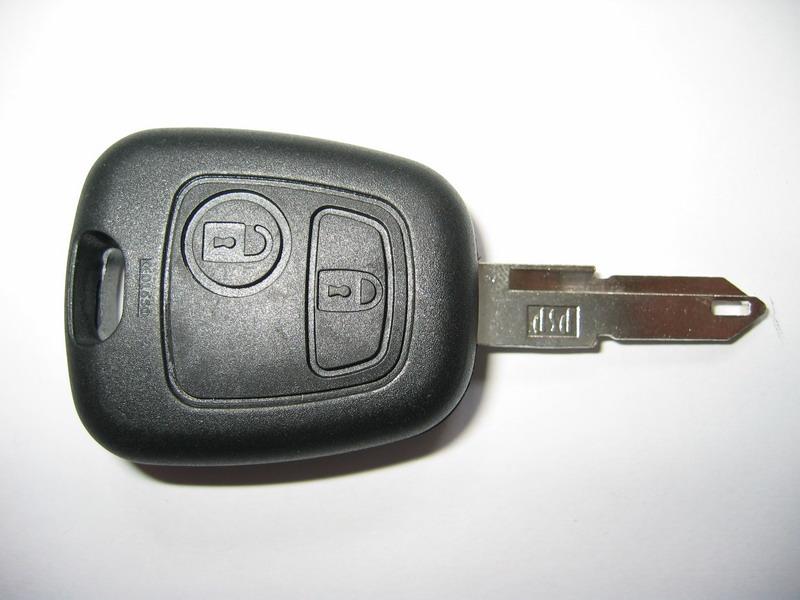 Klíč Peugeot 433Mhz, 2-tlačítkový